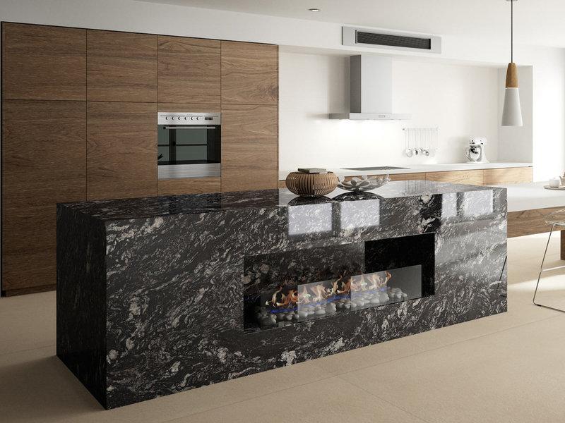 Una apuesta al negro tendencias en m rmol y granito santes for Encimera cocina marmol o granito