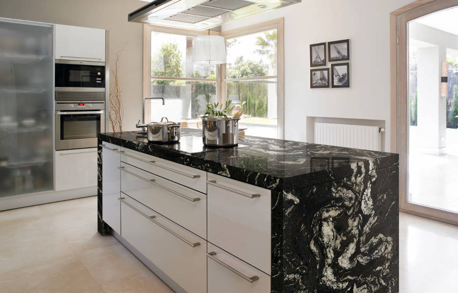 Cocina granito naturamia titanium 104 santes for Granito natural para cocinas