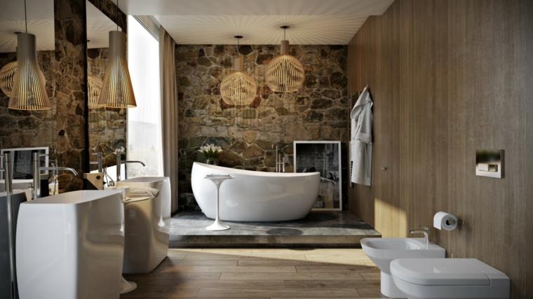 baño de diseño piedra natural